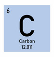 carbon icon vector image vector image