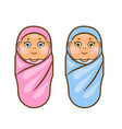 cartoon newborn vector image