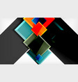 colorful square and rectangle blocks background vector image vector image
