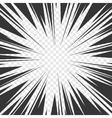 Comics Book Radial Speed Lines Effects with vector image vector image