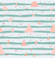 creative hand drawn seamless pattern triangles vector image vector image