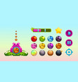 cute assets for game design vector image vector image