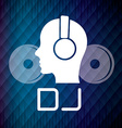 DJ design vector image