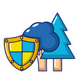 environment protection icon cartoon style vector image