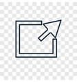 export concept linear icon isolated on vector image