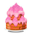 festive layered biscuit cake covered with whipped vector image vector image