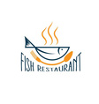 fish in the form of bowlfish restaurant vector image vector image