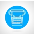 Flat round icon for meal replacement vector image