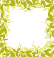 Floral frame with leaves vector image vector image