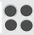 four volume dial vector image