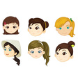 Girls heads vector image