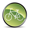 green bike icon vector image vector image
