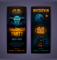 halloween disco party poster with burning letters vector image