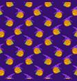 halloween pattern seamless vector image vector image