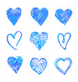 hand drawn hearts design elements for valentine vector image vector image
