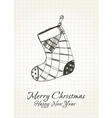 Happy Christmas card vector image