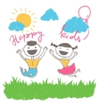 Happy kids having fun vector image