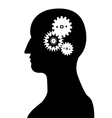 Head And Brain Gear silhouette vector image vector image