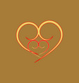 heart around heart t shirt vector image vector image
