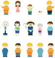 human character variety vector image vector image