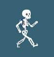 human skeleton walking funny dead man cartoon vector image vector image