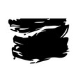 ink brush stroke and texture black paint vector image vector image