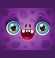 kawaii face zombie vector image vector image