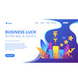 key to success concept landing page vector image vector image
