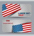 labor day sale banner set advertisement campaign vector image vector image