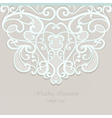 Lace ornamented invitation card with ornaments vector image vector image