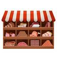 meat farmer shop vector image