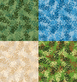 Military seamless pattern Set army texture vector image vector image