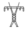 modern electric tower icon outline style vector image vector image