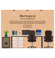 modern office workspace workplace organization vector image vector image