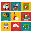 Music nine flat item collection vector image