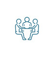 negotiating table linear icon concept negotiating vector image