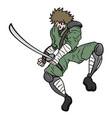 ninja sword vector image vector image