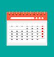paper spiral wall calendar calendar flat icon vector image vector image
