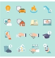 Pay bill icons flat set vector image