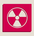 radiation round sign grayscale version of vector image vector image