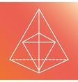 Sacred geometry icon White Shape design vector image vector image