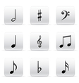 set music notes vector image