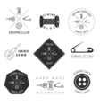 Sewing badges set vector image