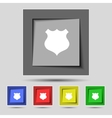 Shield sign icon Protection symbol Set colourful vector image