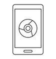 smartphone web surf icon outline style vector image vector image