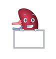smiling human spleen cartoon design style has a vector image vector image