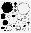 spots negative spaces in black and white in vector image