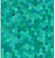Teal color hexagon mosaic background design vector image vector image