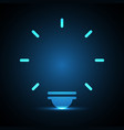 technology future light bulb blank vector image
