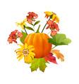 thanksgiving autumn composition vector image vector image